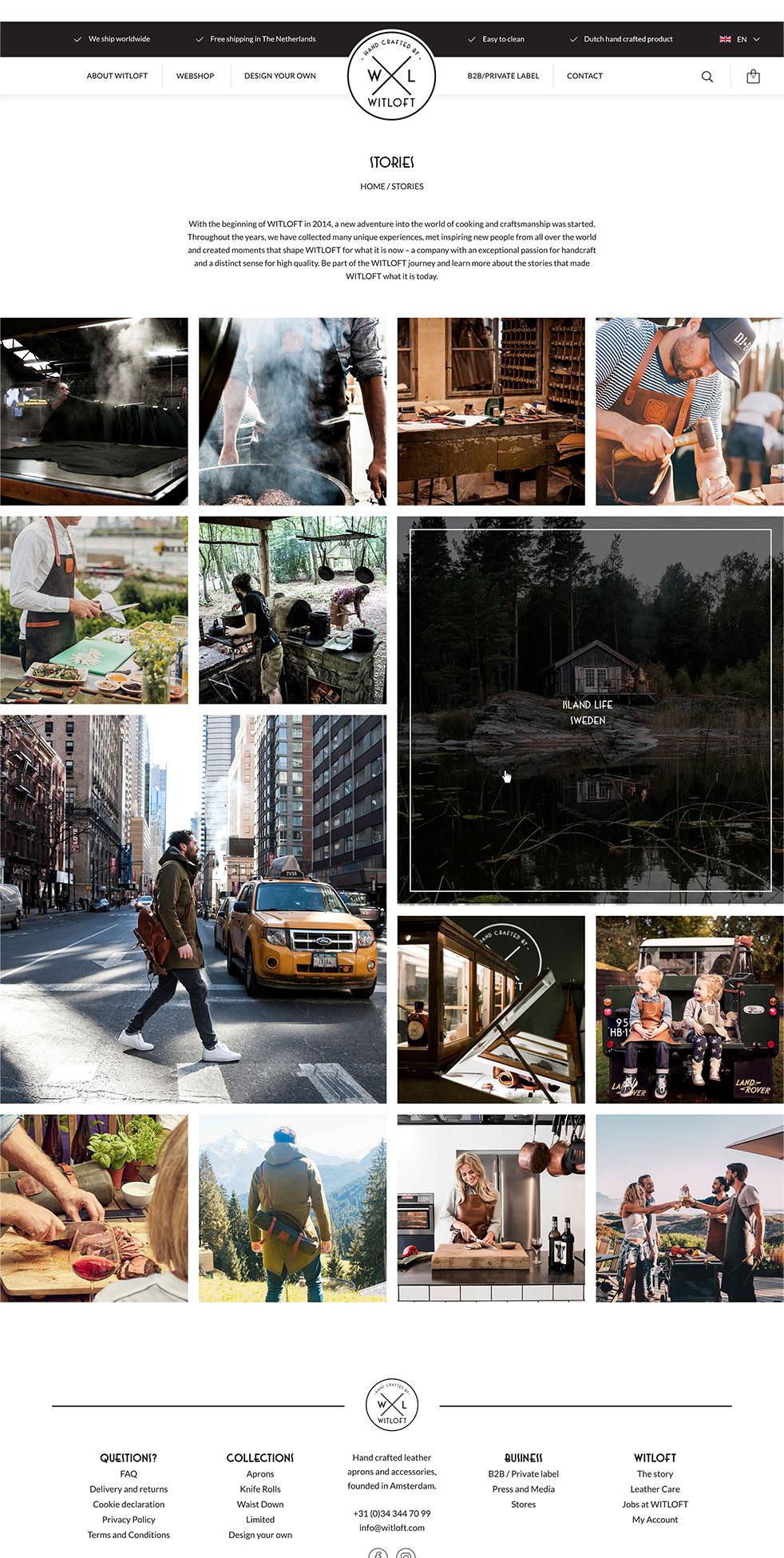 WITLOFT stories pagina op de website