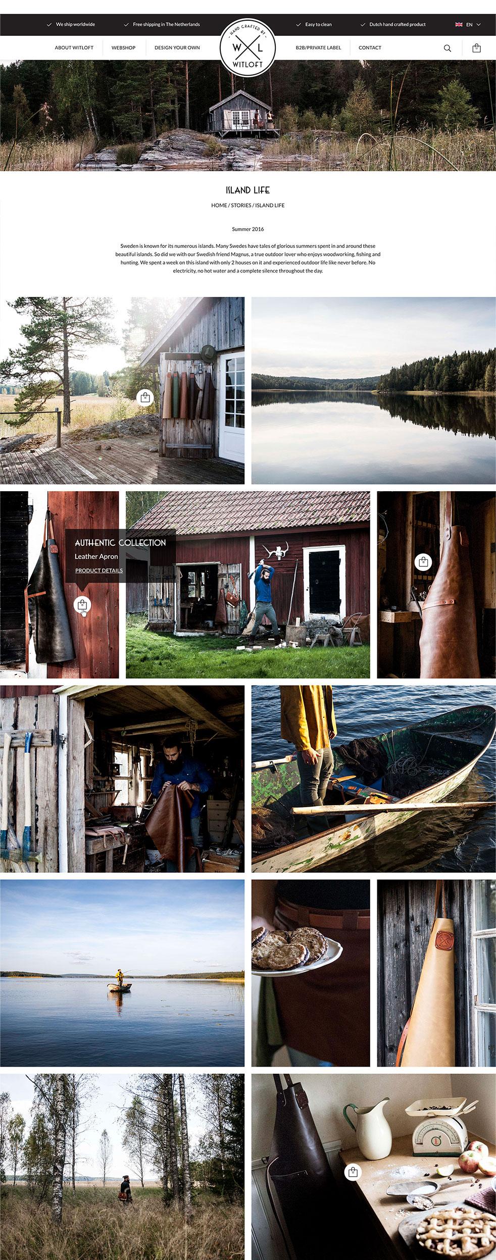 WITLOFT storypagina van hun bezoek aan Zweden